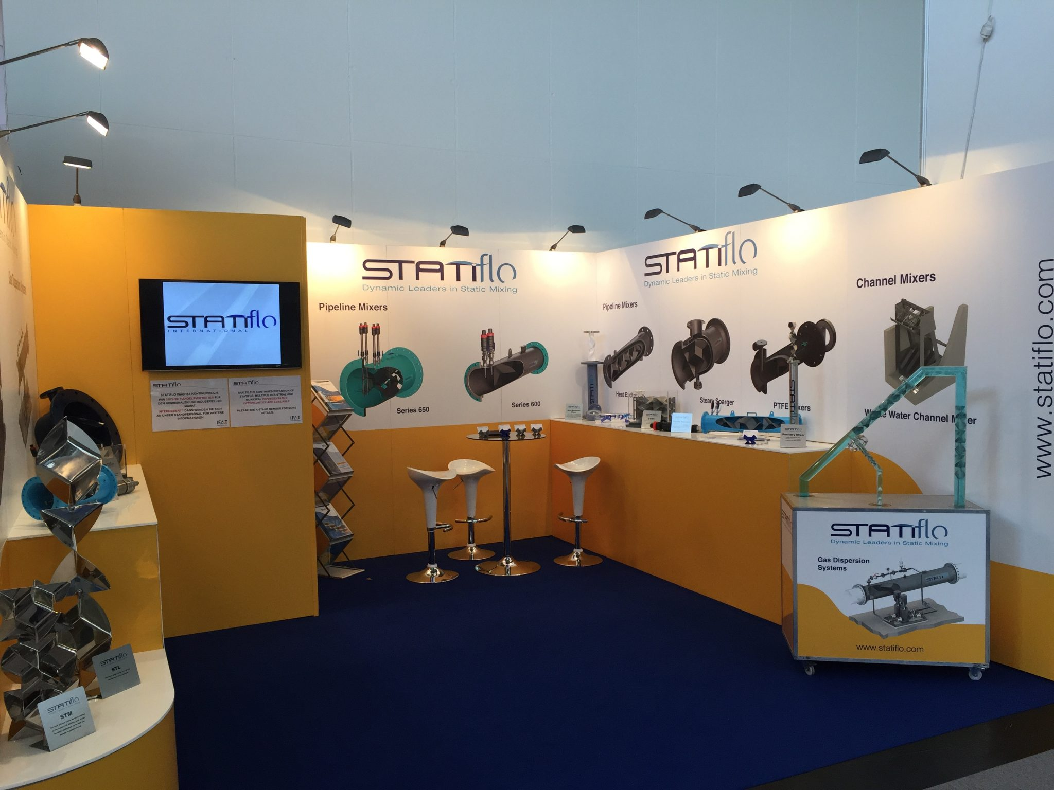 Marketing Exhibition Stand Mixer : Exhibition stand ifat static mixers inline